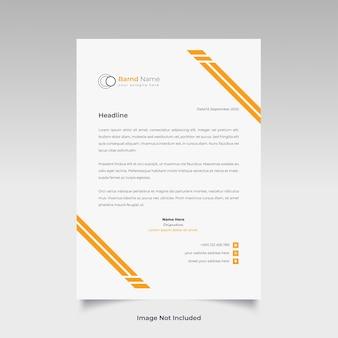Professioneel creatief briefhoofdsjabloonontwerp voor uw bedrijf