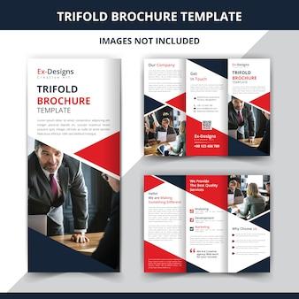 Professioneel drievoudig bedrijfsbrochureontwerp
