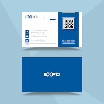 Professioneel expo-visitekaartje en briefhoofdontwerp