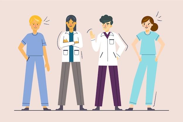 Professioneel gezondheidsteam geïllustreerd