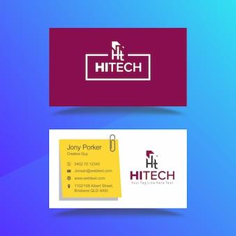 Professioneel hitech-visitekaartje en briefhoofdontwerp