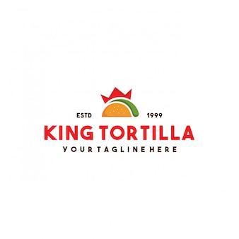 Professioneel king tortilla logo-ontwerp