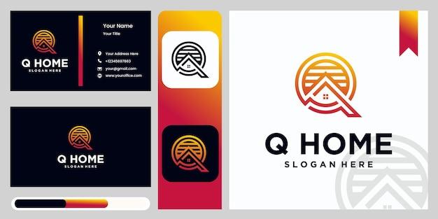 Professioneel merk q brief huisletter q logo magazijn