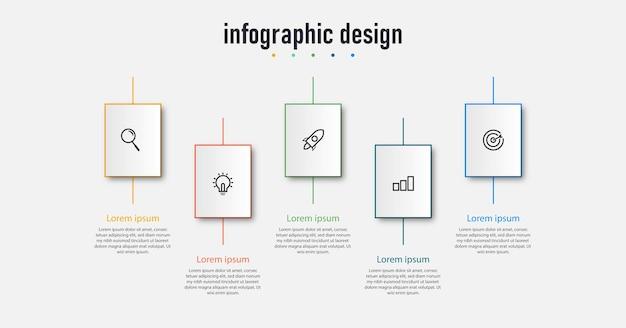 Professioneel plat infographic ontwerp