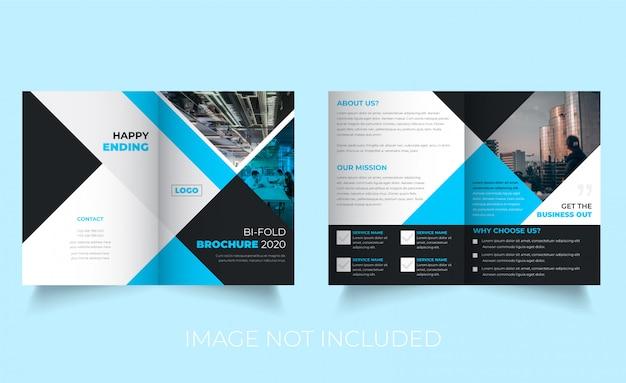 Professioneel tweevoudig brochure-sjabloonontwerp