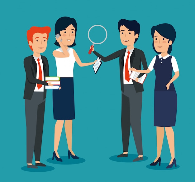 Professioneel zakenmensen in een vergadering