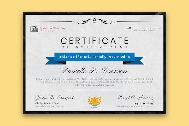Professionele a4-certificaatsjabloon vector premium vector
