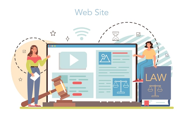Professionele advocaat online service of platformrecht adviseur of consultant