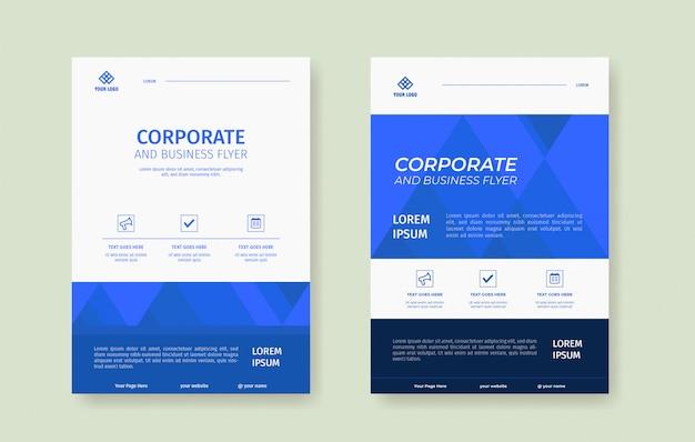 Professionele blauwe flyer sjabloon voor vacature poster van het bedrijf