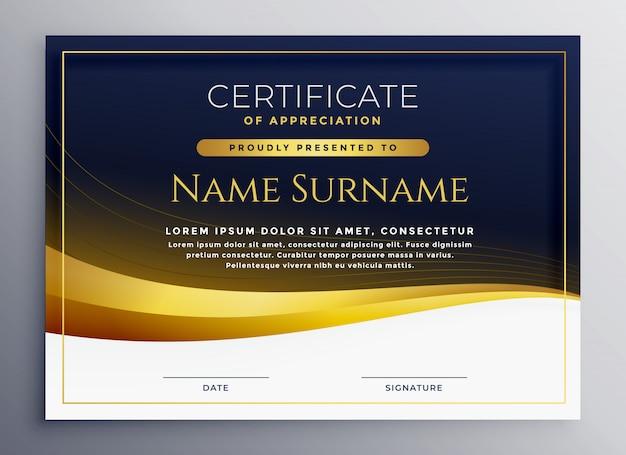 Professionele certificaat van waardering sjabloon