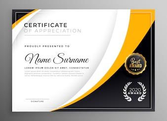 Professionele certificaatsjabloon diploma award ontwerp