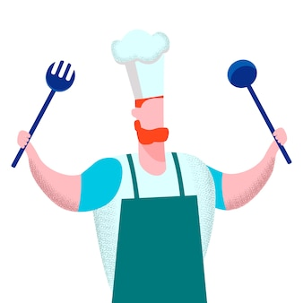 Professionele chef-kok