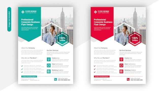 Professionele creatieve zakelijke flyer sjabloonontwerp