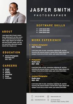 Professionele cv bewerkbare sjabloon voor professionals en executive niveau executive