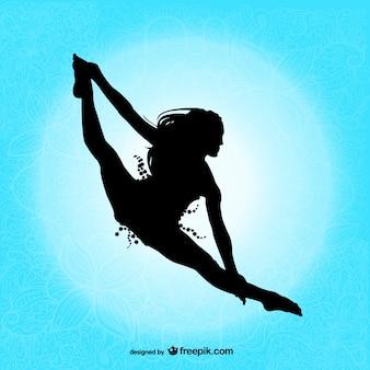 Professionele danser silhouet