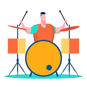 Professionele drummer