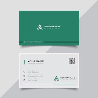 Professionele elegante moderne creatieve visitekaartje ontwerpsjabloon