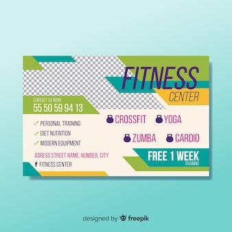 Professionele fitness sjabloon folder