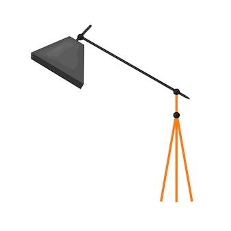 Professionele foto studio verlichtingsapparatuur en camera vector illustratie set. icoon voor foto- en videostudio's.