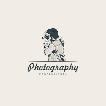 Professionele fotograaf logo sjabloon