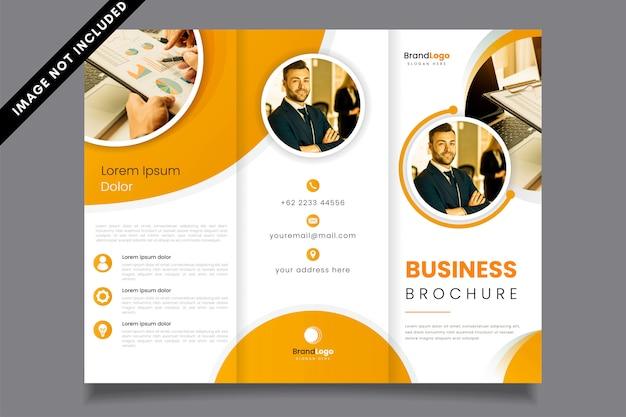 Professionele gevouwen zakelijke brochure