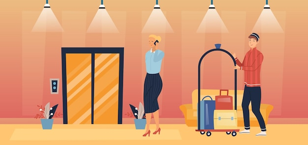 Professionele hotelservice en personeelsconcept.