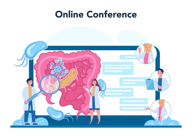 Professionele infectieuze online service of platform