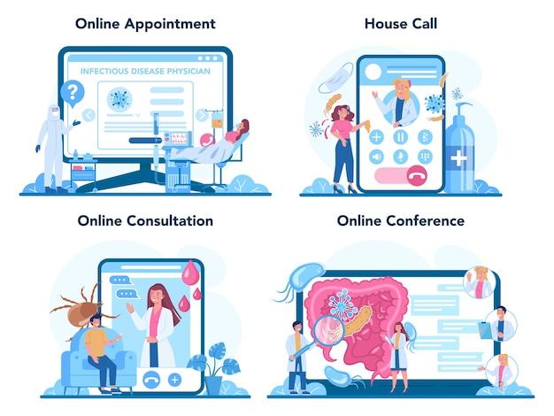 Professionele infectieuze online service of platformset