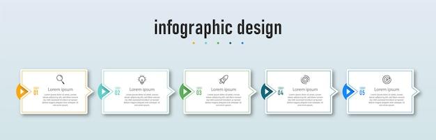 Professionele infographic ontwerpsjabloon bedrijfsconcept
