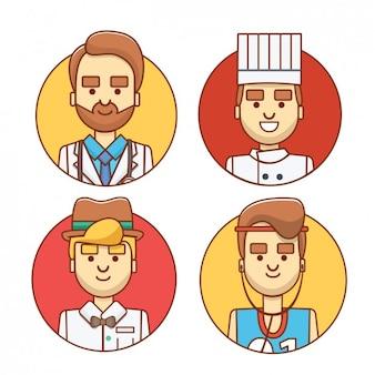 Professionele mannen avatars