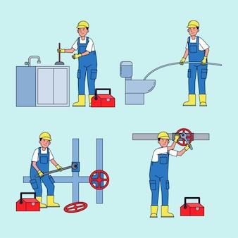 Professionele monteurs om diverse apparatuurproblemen in huis te repareren en op te lossen