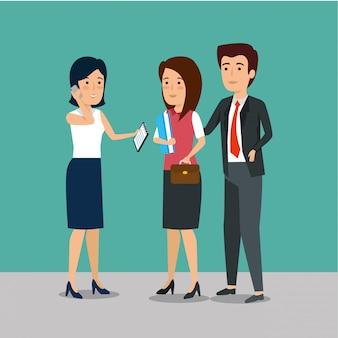Professionele ondernemers werken samen