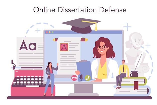 Professionele online service of platform voor literaturisten