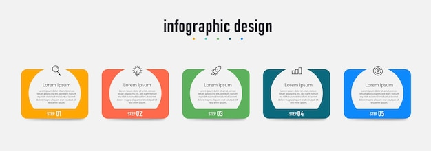 Professionele ontwerpinfographic