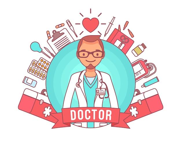 Professionele poster van de arts