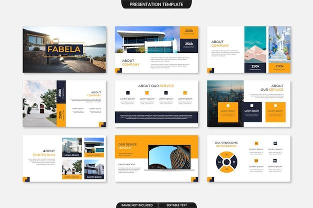 Professionele presentatiesjabloon voor bedrijfspresentaties minimalistisch