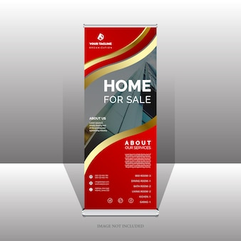 Professionele roll-up banner