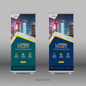 Professionele roll-up stand banner sjabloon