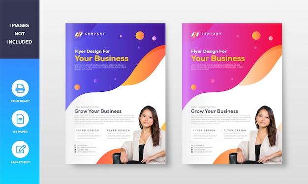 Professionele sjabloon folder ontwerp