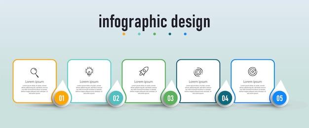 Professionele stappen tijdlijn infographics ontwerpconcept