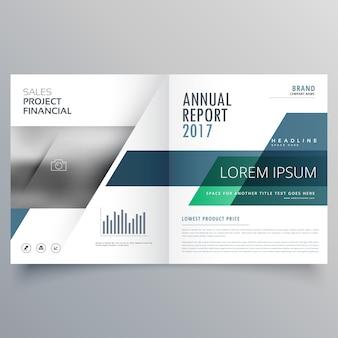 Professionele tweevoudig of tijdschrift brochure template design met geometrische vormen