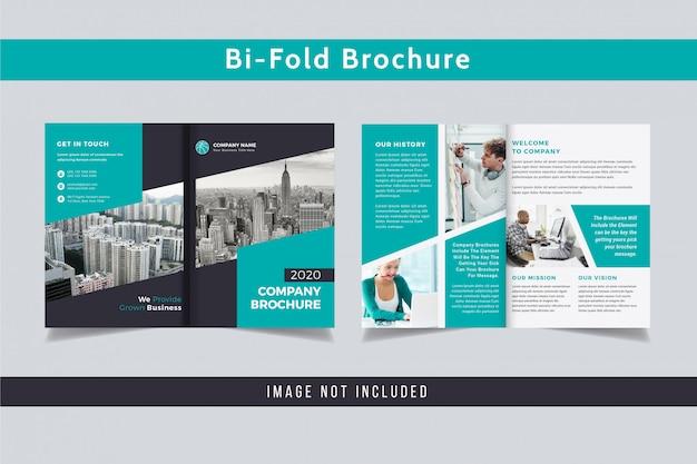 Professionele tweevoudige brochure ontwerpsjabloon