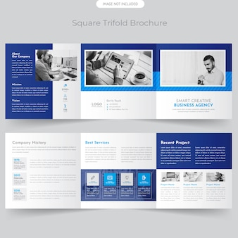 Professionele vierkante driebladige brochure