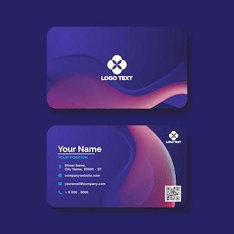 Professionele visitekaartje blauwe achtergrond met kleurovergang