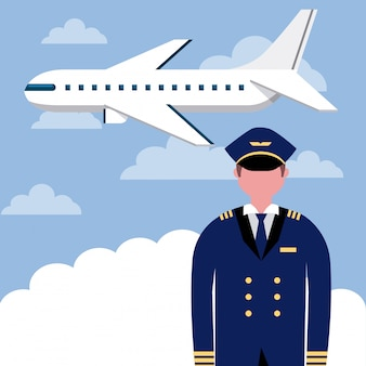 Professionele vliegtuigpiloot
