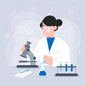 Professionele vrouwelijke wetenschapper