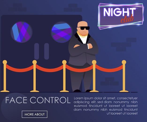 Professionele webpagina voor presentatie van gezichtscontrole