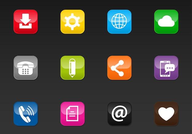 Professionele webpictogrammen voor sociale media voor uw ontwerp