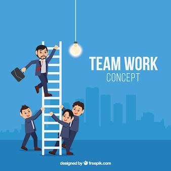 Professionele werknemers samenwerken