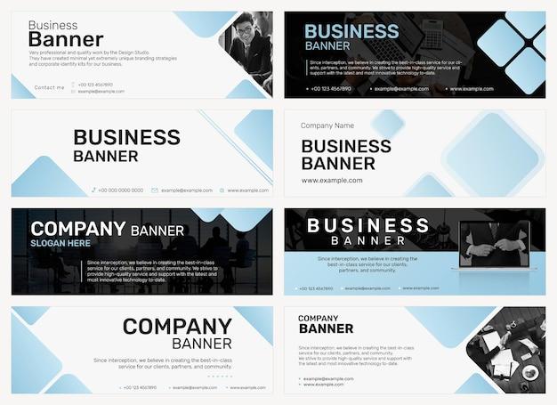 Professionele zakelijke banner sjabloon vector in minimale ontwerpset
